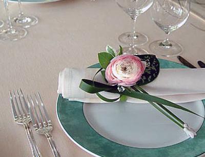 Свадебные салфетки на стол