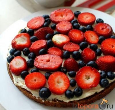 Фруктовый пирог с ромом