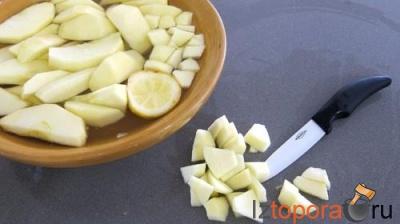 Котлеты с яблоками, ананасами и малиновым пюре