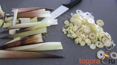 Лиманды с миндалем и салатом из ростков бамбука и ростков сои