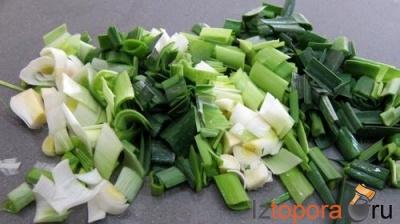 Картофельный суп с луком пореем и сливками