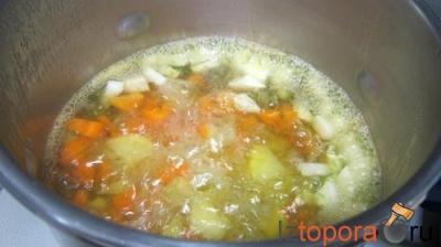 Овощное пюре со шпинатом и сливками