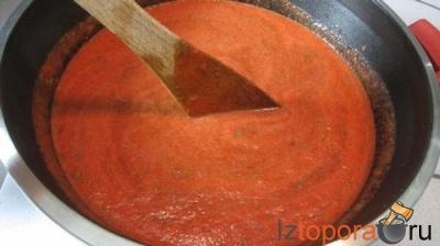 Томатный соус с говядиной