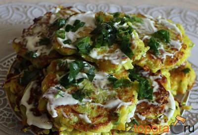 Картофельно-кабачковые оладьи