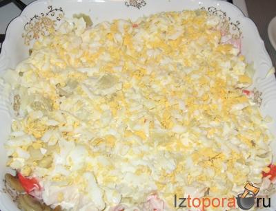 салат с жареными грибами рецепт слоеный