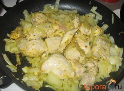 Курица, тушеная по-мексикански