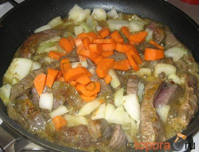 Либжэ (мясо тушеное по-кабардински)