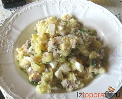 Салат из сельди с картофелем